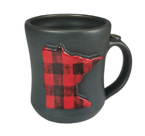 MN Buffalo Plaid Ceramic Mug