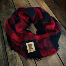 Load image into Gallery viewer, Buffalo Plaid- MN Patch Scarf