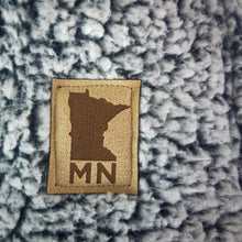 Load image into Gallery viewer, Minnesota sherpa blanket