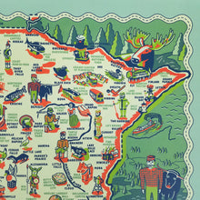 Load image into Gallery viewer, Vintage-looking Minnesota travel poster