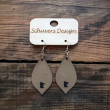 Load image into Gallery viewer, MN Faux Leather Earrings - Tan