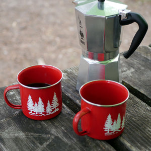 Minnesota Made Red Metal Camping Cups