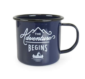 Enamel Adventure Mug-Blue/Black