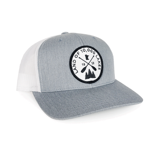 10K Lakes Patch Snapback - Light Grey