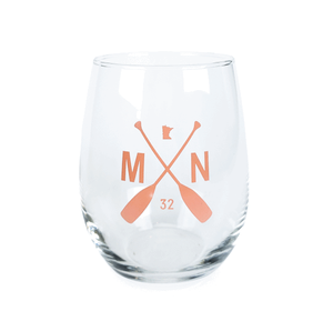 Summer Wine Glass - Coral