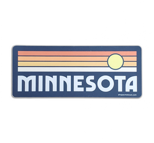 Minnesota Retro Sunset Sticker