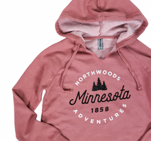Load image into Gallery viewer, Pink Minnesota hooded sweatshirt