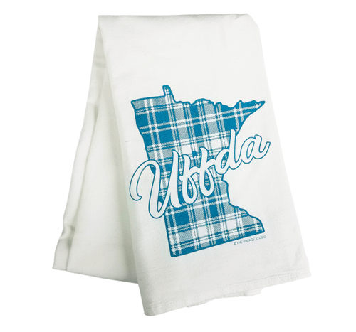 Plaid Minnesota Uffda Towel