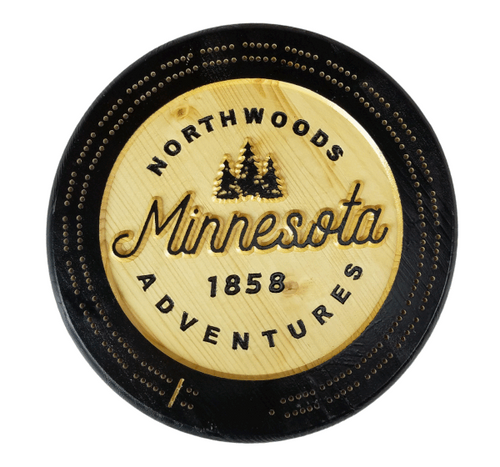 Northwoods Adventures Cribbage Board