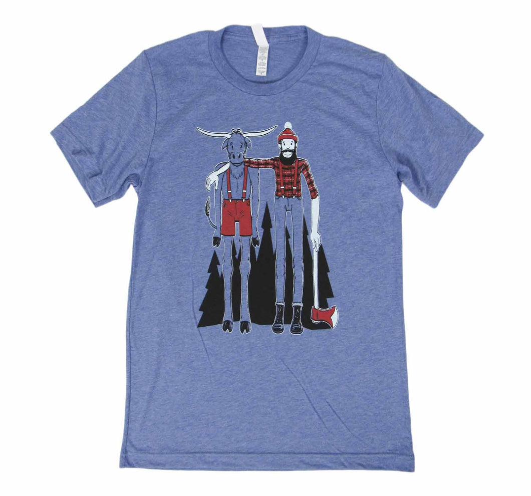 Tall Paul Bunyan and Babe shirt