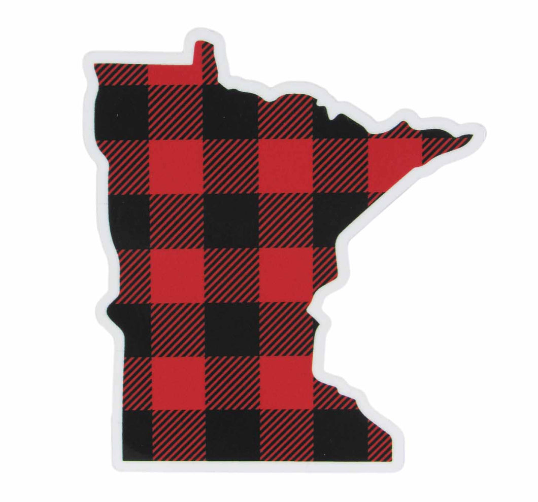 Buffalo plaid Minnesota sticker