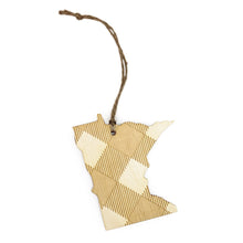 Load image into Gallery viewer, Plaid Minnesota Ornament