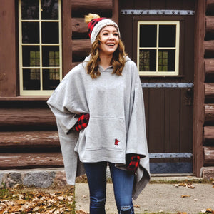 Minnesota Plaid Bonfire Poncho