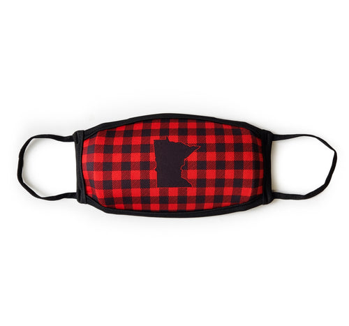 MN Buffalo Plaid Face Mask