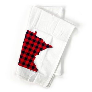 Buffalo Plaid Minnesota Kitchen Tea Towel