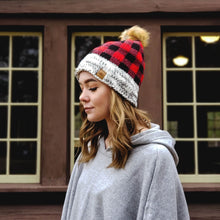 Load image into Gallery viewer, Lumberjack plaid winter knits for women