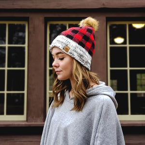 Lumberjack plaid winter knits for women
