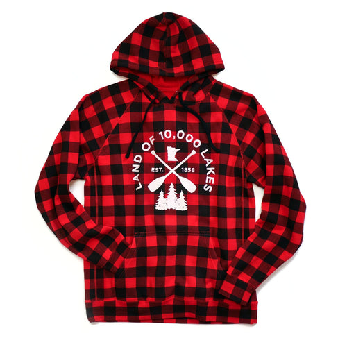 Buffalo Plaid Minnesota Hooded Sweatshirt