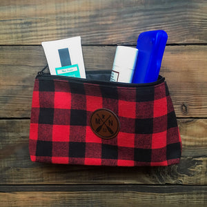 Glencrest Buffalo Plaid Zipper Pouch