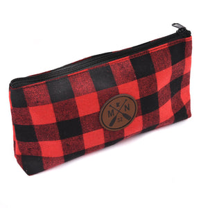 Buffalo Plaid Zipper pouch travel bag