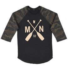 Load image into Gallery viewer, Crookston Camo Raglan