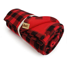 Load image into Gallery viewer, Red and Black Plaid Blanket