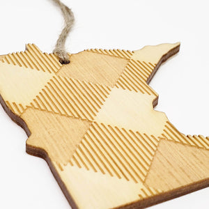 Plaid Minnesota Ornament