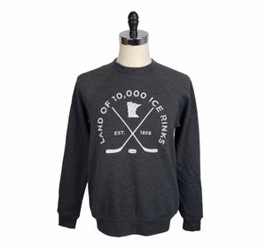 Land of 10,000 ice rinks crewneck