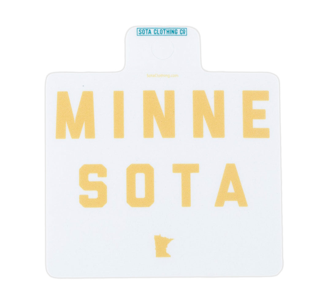 Minne-Sota Sticker - Gold/White
