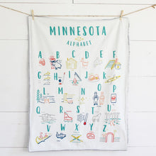 Load image into Gallery viewer, Minnesota Alphabet Cuddle Blanket