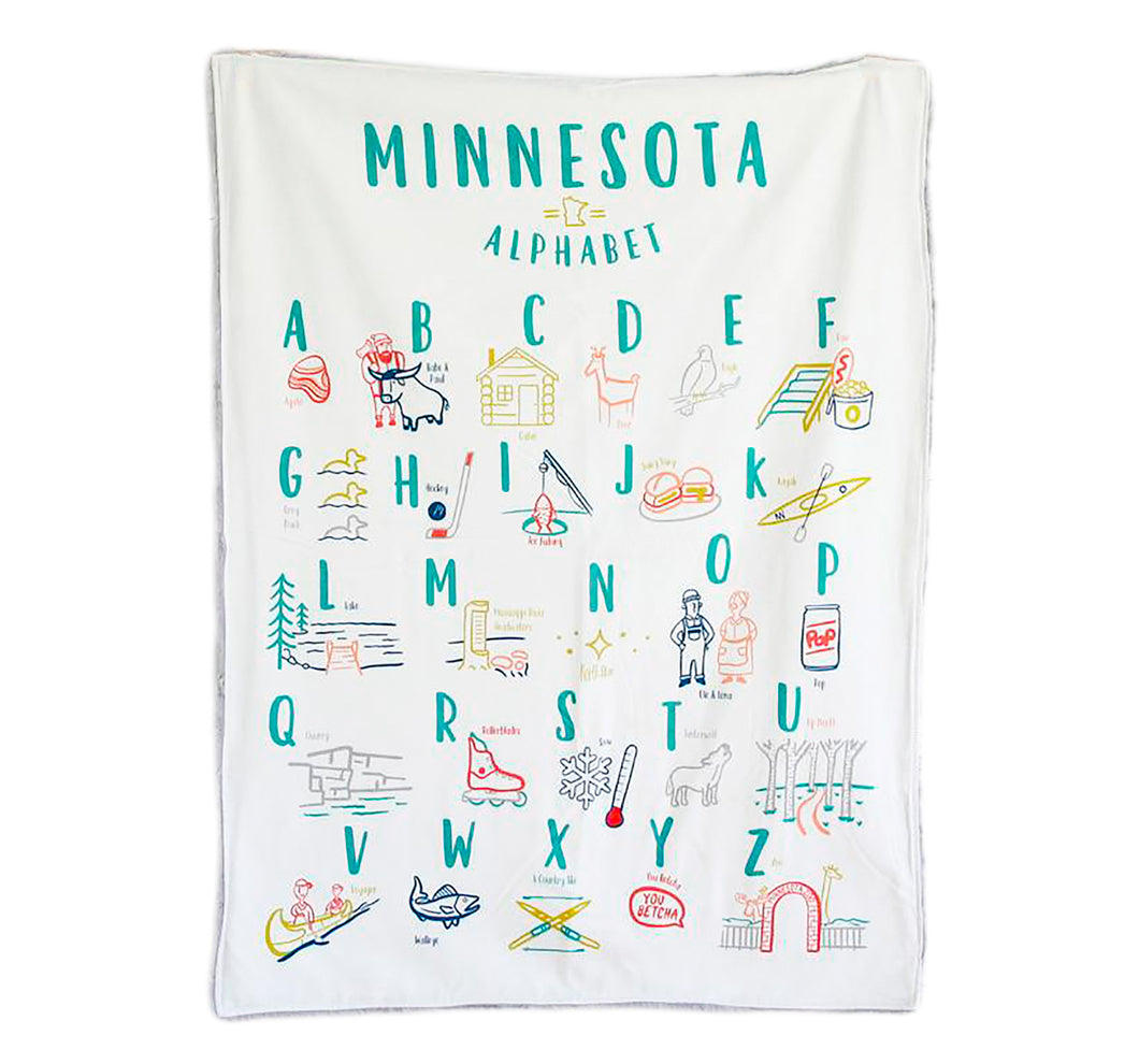 Minnesota Alphabet Cuddle Blanket