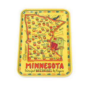 Vintage looking Minnesota serving tray