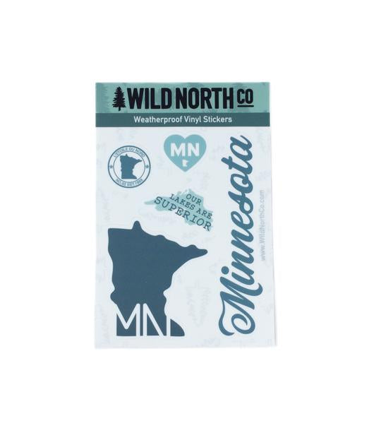 Minnesota State Sticker Sheet Set