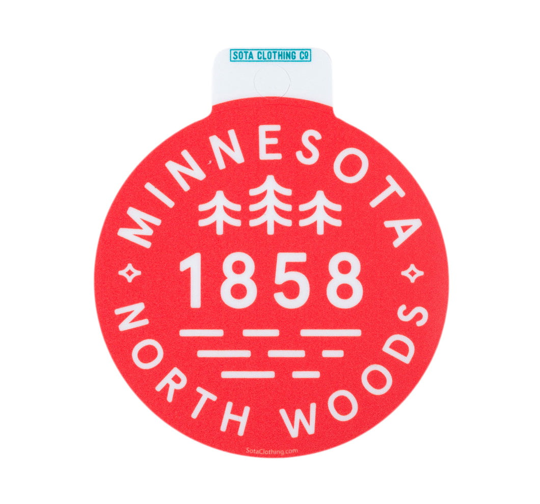 Northwoods Sticker - Red/White