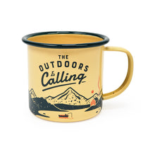 Load image into Gallery viewer, Outdoors Enamel Mug