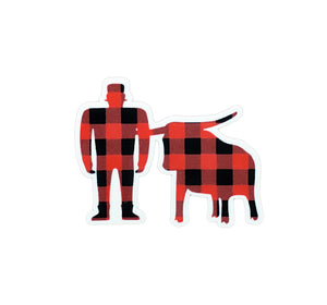 Plaid Paul & Babe Sticker