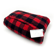 Load image into Gallery viewer, Buffalo Plaid Sherpa Blanket