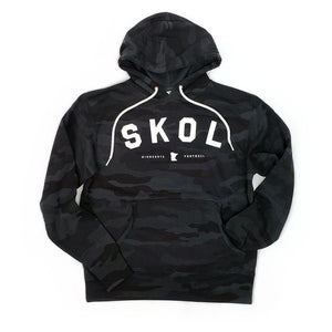 SKOL Minnesota Football Black Camo Hoodie