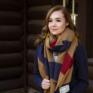 Autumn Striped Blanket Scarf