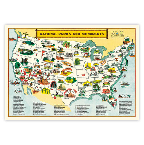National Parks and Monuments Poster