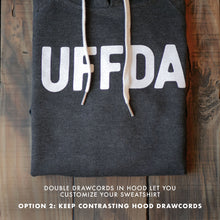 Load image into Gallery viewer, Uffda Hoodie - Grey