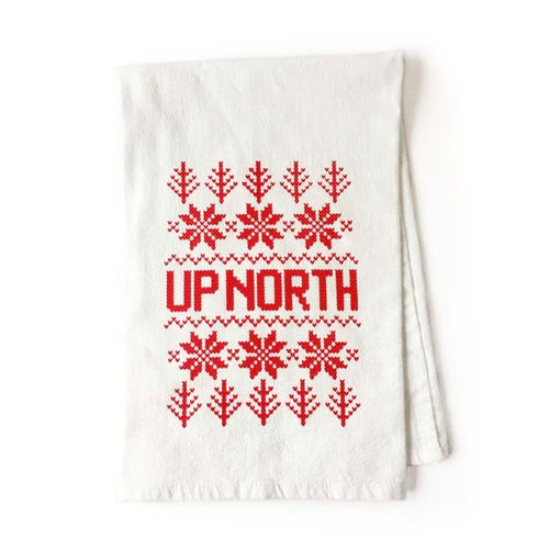 Up North Fare Isle Kitchen Tea Towel