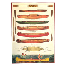 Load image into Gallery viewer, Vintage canoe poster