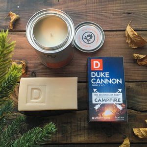 Men's soap and candle: Campfire wood/smoke scent