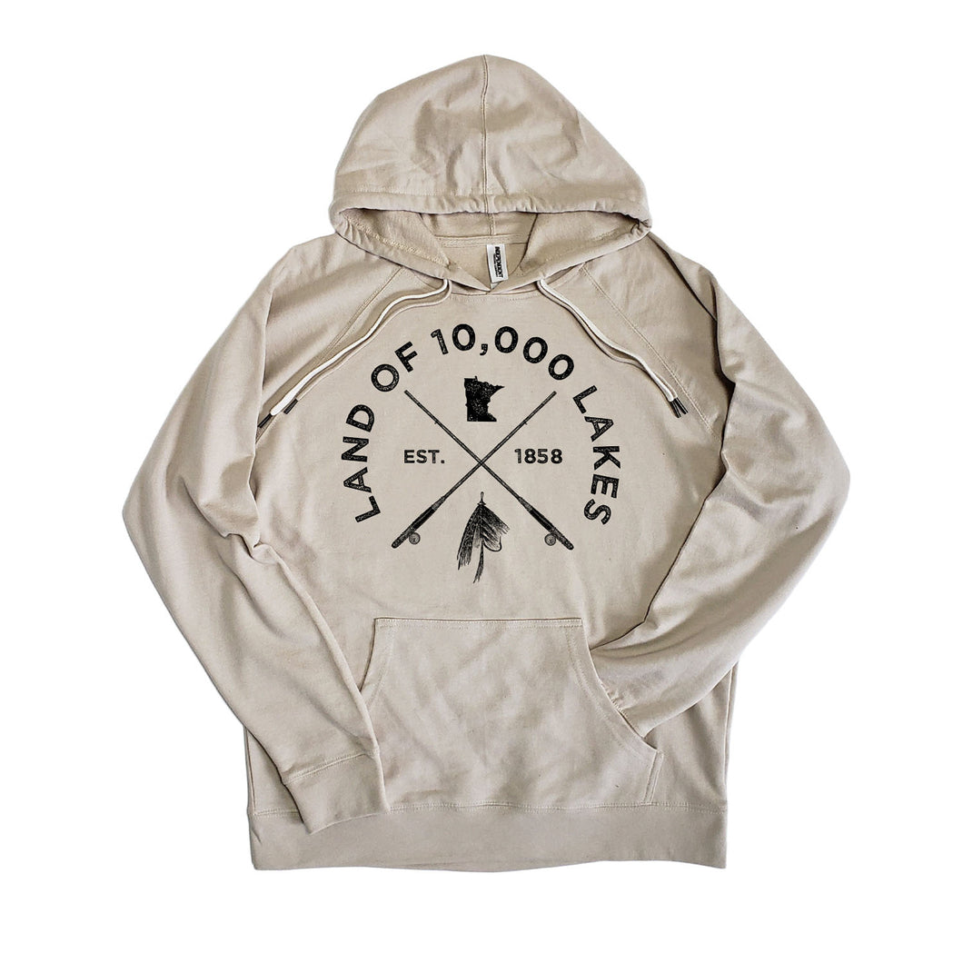 Fish the 10,000 Lakes Hoodie - Tan
