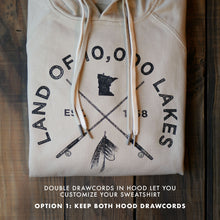 Load image into Gallery viewer, Fish the 10,000 Lakes Hoodie - Tan