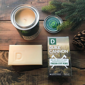 Men's soap and candle: Cut-pine forest scent
