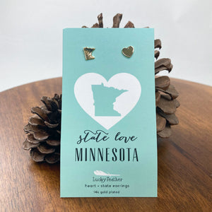 Minnesota State Love Earrings
