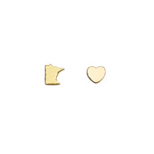 Load image into Gallery viewer, Minnesota State Love Earrings