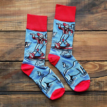 Load image into Gallery viewer, Paul Bunyan and Babe the Blue Ox Socks